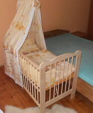 Berceau Cododo Complet Lot Lit Bébé à Barreaux Enfant 2in1 Ciel Bois Massif