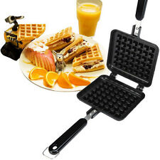 HOT Breakfast Belgian Waffle Maker Coated Steel with Stay-cool Handle Non-stick