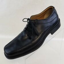 Rockport Oxford Bike Toe Mens Black Leather Lace Up Shoes Size 10W