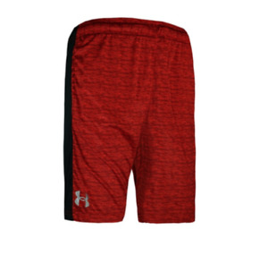 Under Armour Shorts Red Heather Mens Medium Tech Loose Fit 8 Inch Gym Training
