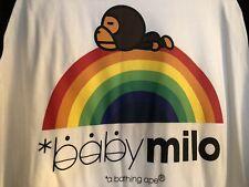 """Authentic Bape """"Baby Milo"""" Over The Rainbow 3/4 Shirt"""