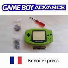 Coque GAME BOY ADVANCE vert green NEUF NEW + tournevis - étui shell case GBA