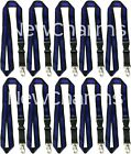 10 LANYARDS w/Detachable Key Chain Thin Blue Line Police Officer Law Enforcement