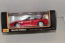 Maisto Special Edition Corvette Convertible Diecast Metal Car 1:18 Scale