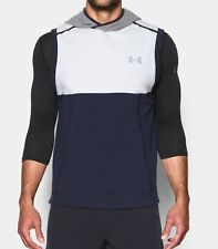 Under Armour men's navy Hoodie Sweatshirt Vest size 3XL retail $80