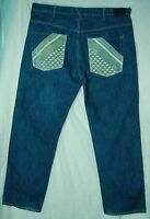 Embellished Pockets RELAXED Fit CLASSIC Rise SEAN JOHN 100% Cotton Jeans! 40/32