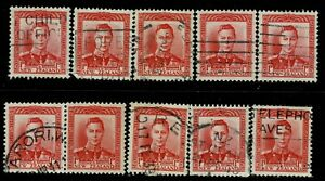 New Zealand #227(2) 1938 1p rose red KING GEORGE VI 10 Used CV$2.50