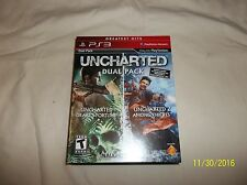 Uncharted Dual Pack -- Greatest Hits (Sony PlayStation 3, 2011)(Complete)