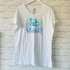 THE NORTH FACE T Shirt Size XL Womens WHITE | Short Sleeve NEW Slim Fit Holiday