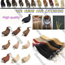18inches Easy Loop Micro Ring Beads Tip Straight Remy Human Hair Extensions