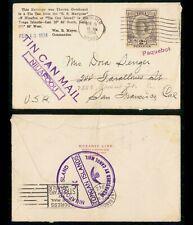 Mayfairstamps Tonga 1934 Honolulu Hawaii Tin Can Mail to San francisco CA Cover
