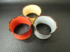 Art Deco Phenolic And Faux Tortoise Shell Napkin Rings-3pcs