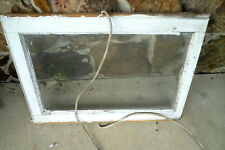 "Vintage 1940s One Pane Farmhouse Shabby White 23""x22"" Window 18""x 20"" Glass Rope"