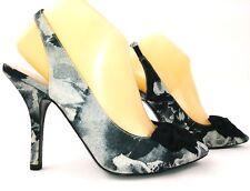 Nine West Womens Blooming Heels Size 9 Gray Black Slingback Pumps