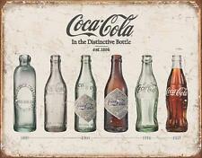 Coke Bottle Evolution Sign Coca Cola Metal Tin Vintage Kitchen Decor Collection