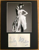 Lily Allen  **HAND SIGNED**  16x12 mounted display  ~  AUTOGRAPHED