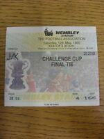 12/05/1990 Ticket: FA Cup Final, Manchester United v Crystal Palace [At Wembley]