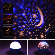 New US Kids Room LED Sky Baby Star Moon Night Light Projector Lamp Bedroom Gift