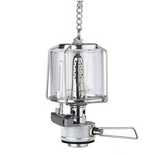 Mini Portable Hanging Camping Lantern Gas Light Tent Lamp Torch Glass Lamp A7G8