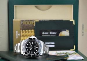 ROLEX - 44mm Stainless Deepsea SeaDweller Black Ceramic 116660 - SANT BLANC