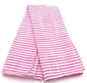 $125 Tommy Hilfiger Mens Pink White Stripe Handkerchief Classic Pocket Square
