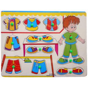 Kids Children Peg DressUp Boy Jigsaw Puzzle Toy Baby Developmental Wooden(12212)