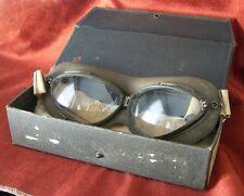 Rare 1930's US Navy Willson Goggles in Original Case