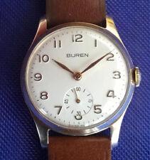 Vintage Buran Grand Prix 9k Solid Gold Gents Watch