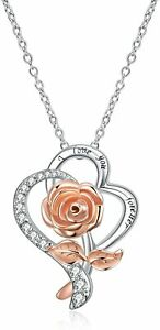 SHE WILL LOVE THIS 18k Rose Gold Plated Necklace Gift Anniversary Birthday