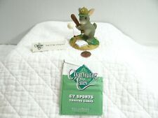 Charming Tails Ready To Take A Swing At It Rabbit Figurine Baseball 87/804 Le