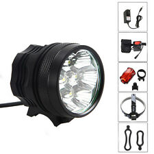 7X CREE XML U2 LED 10000Lm Head Front Bicycle light Bike headlamp Torch 12000mAh