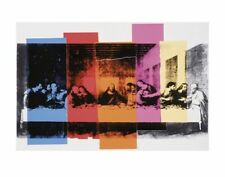 Detail of The Last Supper 1986 by Andy Warhol Religious Art Print Poster 33x48
