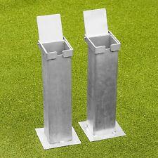 Steel Flip-Lid Ground Sockets | 3inch Square Tennis Posts | Heavy Duty Steel