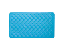 Sabichi Long Stylish Bubble Rubber Bath Mat Non Slip Bathroom 40cm X 70cm Aqua