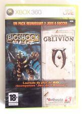 Bioshock + Oblivion The Elder Scrolls IV avec la carte Xbox360 PAL