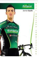 CYCLISME carte cycliste DAMIEN GAUDIN équipe EUROPCAR 2012