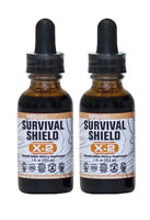Survival Shield X-2 Nascent Iodine (2 Bottles) Highest Quality  - 1796% of RDA