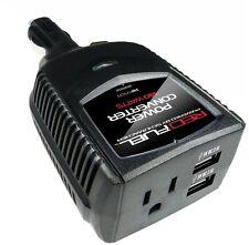 Car Power Converter 12V DC AC Inverter USB Outlet Plug Charger Cigarette Lighter