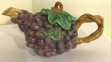 Fitz & Floyd Decorative Creamer Grape Cluster Handle is the Vine — Rare Find
