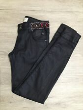 LTB Blue Sequins Beaded Skinny Handmade Jeans Sz 27
