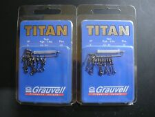 GRAUVELL TITAN Nº 8 EMERILLON CON GRAPA /ROLLING BARREL SWIVELS HANGING / 14 Kg