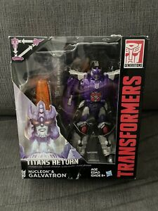 Transformers Titans Return Galvatron & Nucleon Voyager Class New Sealed Rare