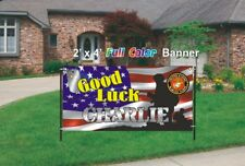 U.S. Marines Going Away Banner - Good Marine Banner 13oz woven mesh banner