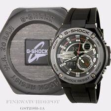 Authentic Casio G-Shock Men's G-Steel Tough 3D Black Watch GST210B-1A
