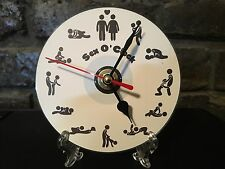 Repurposed Cd's and DVD's Clocks  Wall and Mantel Adult theme With Free Stand