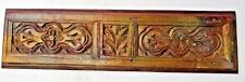 Architectural Carved Wood remanent reclaimed decor Victorian wall panel 1900