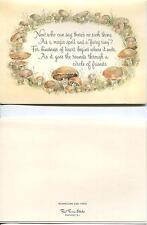 VINTAGE ANISE SEED COOKIES RECIPE PRINT 1 MUSHROOM FAIRY RING MAGIC SPELL CARD