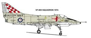 1/48 RAN DECALS; Douglas A-4G Skyhawk RAN VF-805 Checked Tail