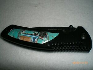 Turquoise Inlay Schrade Liner Lock Folding Knife  SCH207                 isk1
