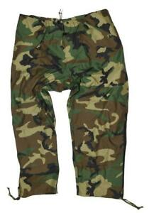 US Military Gore-Tex M81 Woodland BDU Cold Wet Weather Rain Pants - XL REG